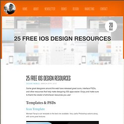 25 Free iOS Design Resources | Nathan Barry