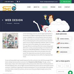Web Design Services in London by SEO Developers