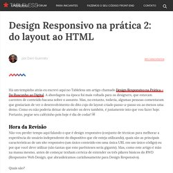 Design Responsivo na prática 2: do layout ao HTML