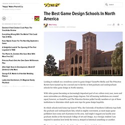 The Best Game Design Schools In North America