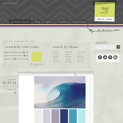 Design Seeds&: For All Who Love Color | Search - StumbleUpon