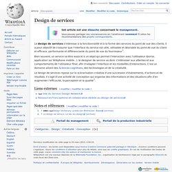 Design de services
