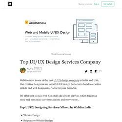 Top UI/UX Design Services Company