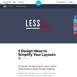 5 Design Ideas to Simplify Your Layouts