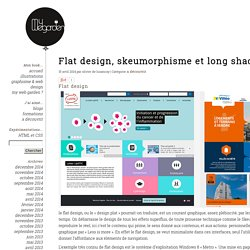 Flat design, skeumorphisme et long shadow