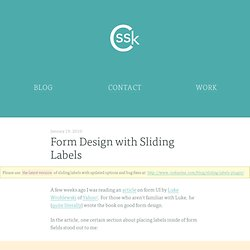 Form Design with Sliding Labels « CSSKarma