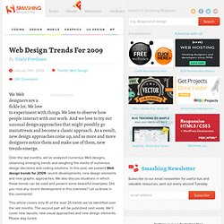 Web Design Trends For 2009