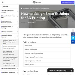 How to design Snap-fit Joints for 3D Printing