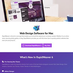 Web Design Software for Mac — RapidWeaver