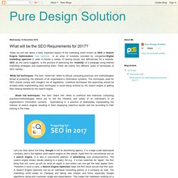 Pure Design Solution: What will be the SEO Requirements for 2017?