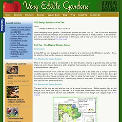 VEG Design Solutions - Part Two - Very Edible Gardens