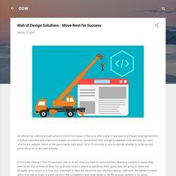 Web UI Design Solutions - Move Next for Success