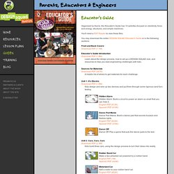 DESIGN SQUAD . Educator's Guide