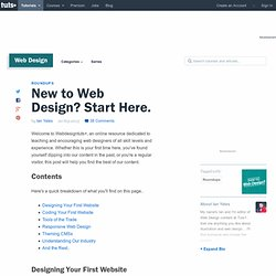 New to Web Design? Start Here.