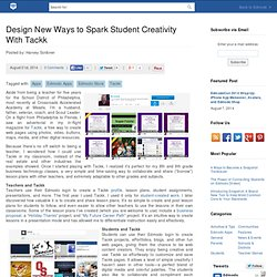 Design New Ways to Spark Student Creativity With Tackk