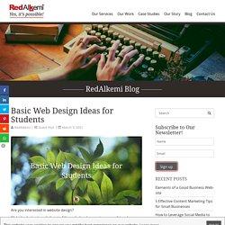 Basic Web Design Ideas for Students - RedAlkemi