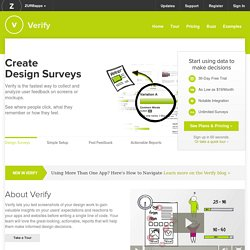 User feedback and concept testing with Verify