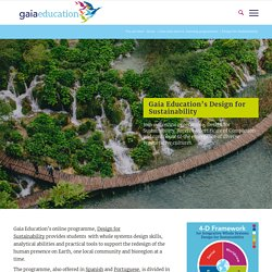 Design for Sustainability online course