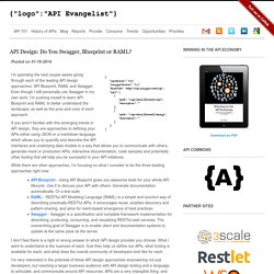 API Design: Do You Swagger, Blueprint or RAML?