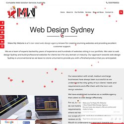 Web Designer Sydney - Make My website