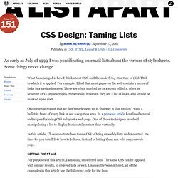 CSS Design: Taming Lists