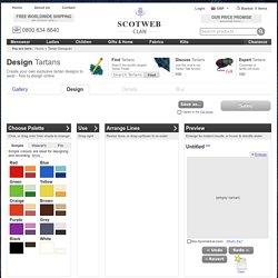 Design your own Tartan at Scotweb Kilt & Tartan Store