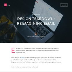 Design teardown: reimagining email