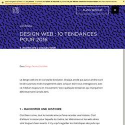 Design web : 10 tendances pour 2016