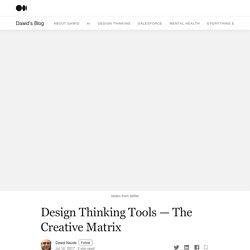 Design Thinking Tools — The Creative Matrix