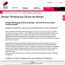 Design Thinking by L'École de design