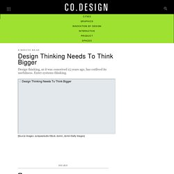 Design Thinking Needs To Think Bigger