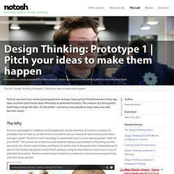 Pitch your ideas to make them happen