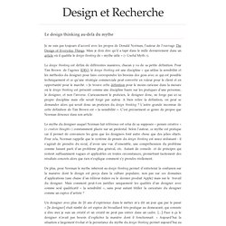 Le design thinking au-delà du mythe