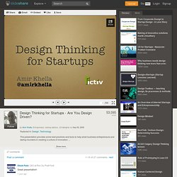 Design Thinking for Startups - Are You Design Driven?