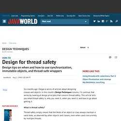 Design for thread safety