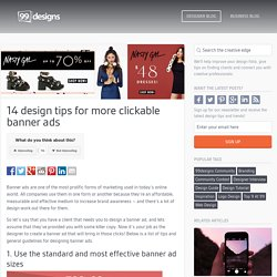 14 design tips for more clickable banner ads
