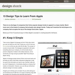 15 Design Tips to Learn From Apple