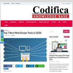 Top 7 Best Web Design Tools In 2020 - Codifica Design Studio Blog
