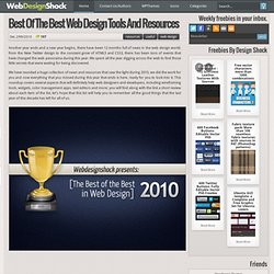 Design tools and resources, best of 2010