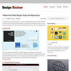 4 More Free Web Design Tools and Resources