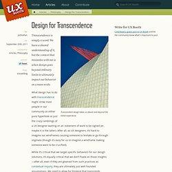 Design for Transcendence