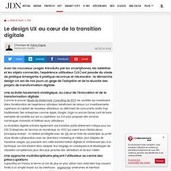 Le design UX au cœur de la transition digitale