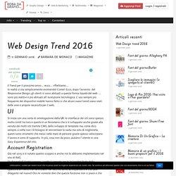 Web Design trend 2016 Robadagrafici.net