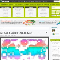 Web And Design Trends 2013