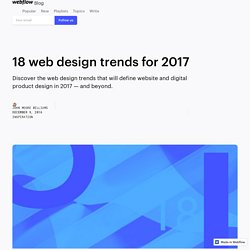 18 web design trends for 2017
