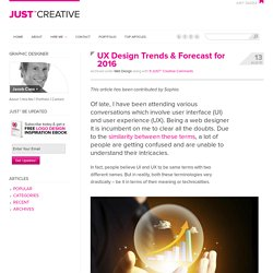 UX Design Trends & Forecast for 2015/2016