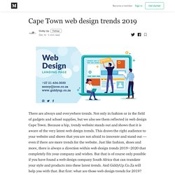 Cape Town web design trends 2019 - Giddy Up - Medium