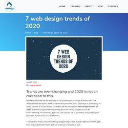 7 web design trends of 2020