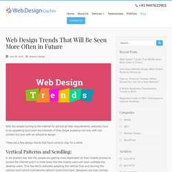 Web Design Trends That Will Be Seen More Often in Future