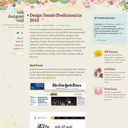 Design Trends (Predictions) in 2010